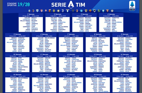 Calendario Napoli 2019 20 Serie A.Notizie Calcio Napoli Calendario 2019 20 Ecco Tutte Le 19